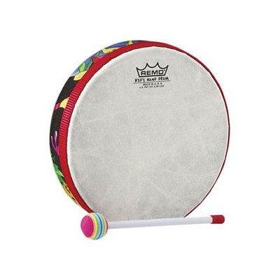 """Remo Drum, Kids Percussion®, Hand Drum, 6"""" Diameter, 1.25"""" Depth, Fabric Rain Forest"""
