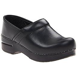 Dansko Women\'s Professional Narrow Black Oiled Leather Work 13 B(M) US