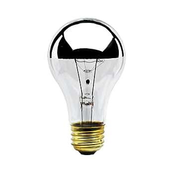 Bulbrite 60A19HM Half Chrome 60W A Shape Bulb