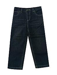 Falls Creek Baby Boys Dark Wash 5-Pocket Jeans (Size - 12 Months)