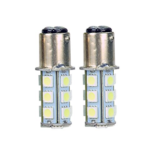 New White 1157 18Smd Bay15D Car Led Replacement Bulb Reverse Lamp Turn Signal Lamp(Pack Of 2)