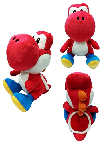 "Sanei Super Mario Series 7"" Red Yoshi Plush"