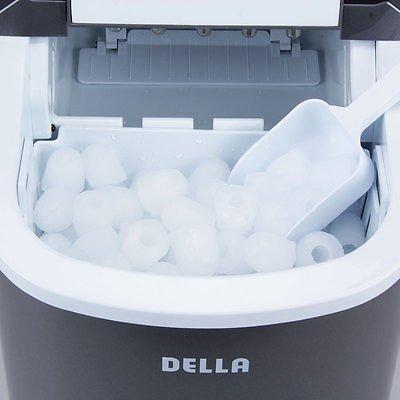 Compact Ice Maker Portable Deluxe Mini Cube Counter Top Machine, 26 lb/day NEW - Retro Sonic Compressor