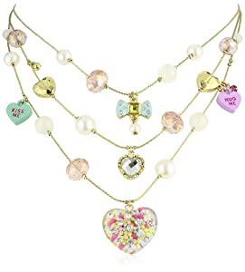 """Betsey Johnson """"Candy Land"""" Candy Heart Illusion Necklace"""