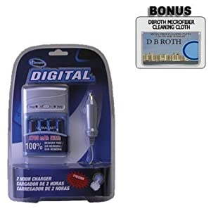Digital Concepts Rapid Charger with 4 2700 mAH AA Batteries For The Kodak Easyshare Z1285 Z1275 Z885 Z650 C1013 C913 C875 C813 C743 C713 C653 C613 C513 C433 C643 C533 C663 C360 C330 C310 C340 C300 Digital Cameras