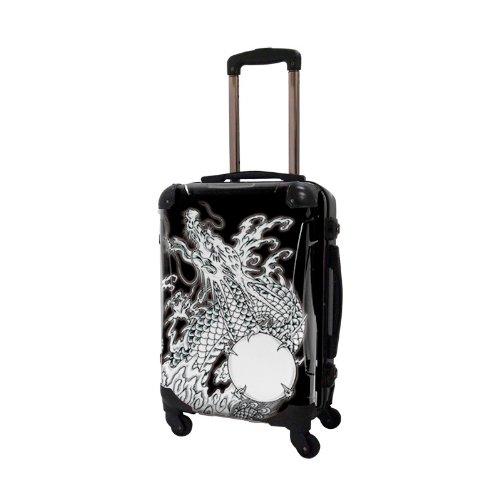 キャラート アートスーツケース 和太鼓師広純 dragon(ブラック) フレーム4輪 機内持込