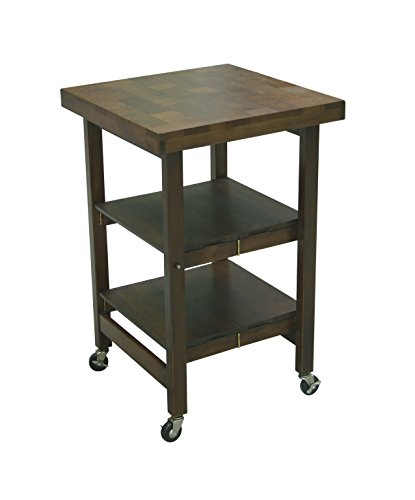 Oasis Concepts All Wood All-Purpose Folding Island, Walnut front-988387