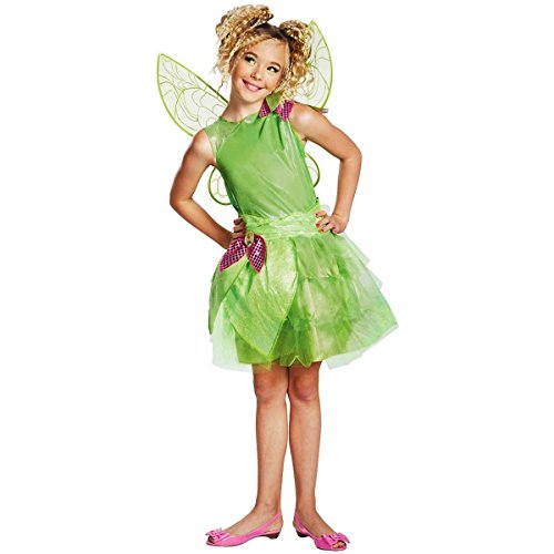 GSG Tinker Bell Costume Kids Tinkerbell Fairy Halloween Fancy Dress (Beauty Queen Fancy Dress)