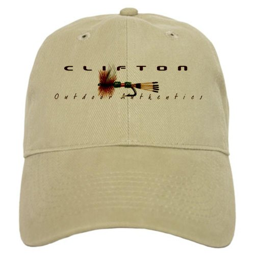 Flyfishing Logo 2 Khaki Hat Sports Cap by CafePress