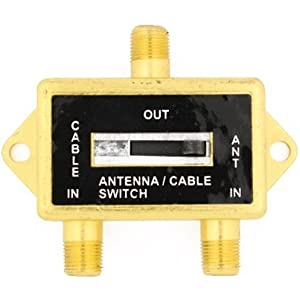 Cable N Wireless Gold Plated Coaxial A/B Switch for Splite TV Antenna HDTV Cable 2 Way Digital Optical Coax Splitter
