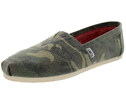 Toms - Womens Canvas Classic Slip-On Shoes, Size: 8 B(M) US, Color: Washed Camo