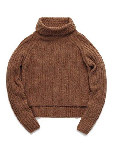 (リリーブラウン)Lily Brown 変形リブタートル LWNT155093 46 RED F : 服&ファッション小物通販 | Amazon.co.jp
