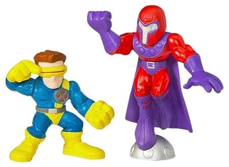 Marvel Super Hero Squad Cyclops & Magneto Figurines Set