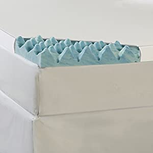 Big Wave 3inch Gel Memory Foam Mattress Topper with Cover