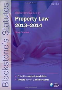 Blackstone S Statutes On Property Law