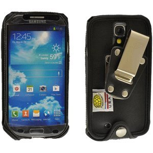 Samsung Galaxy S 4 Turtleback Heavy Duty Leather Case With Metal Clip
