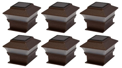 Tricod PL244 Plastic Copper Square Post Deck Fence Mount, 6-Pack