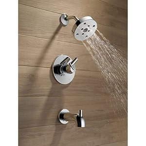 Delta Faucet T17459-CZ Triassic, 17 Series MultiChoice Tub/Shower Trim, Champagne Bronze (Color: Champagne Bronze, Tamaño: 8.00 x 6.50 x 8.00 inches)