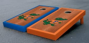 Florida UF Gators Cornhole Game Set Rosewood Stained Albert Version Corn Hole by Gameday Cornhole