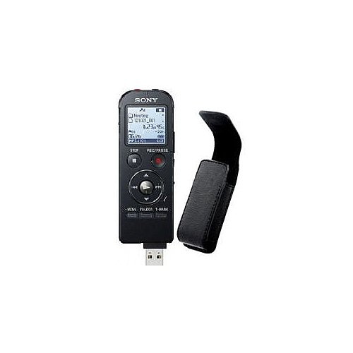 Sony ICD-UX533-Black 4GB Expandable Digital Flash Voice Recorder with Premium Carrying Case (Sony Digital Voice Recorder Case compare prices)