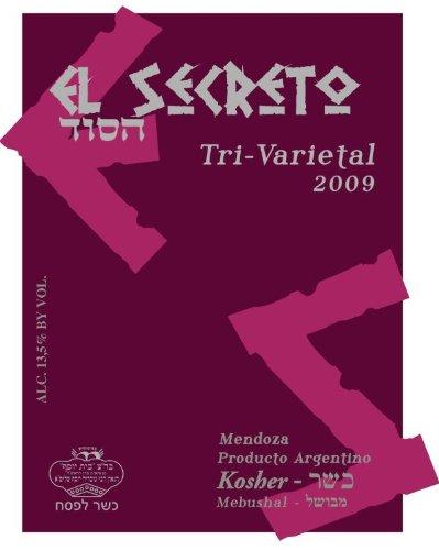 2009 El Secreto Tri-Varietal Kosher Wine Red Blend, Mendoza, 750 Ml