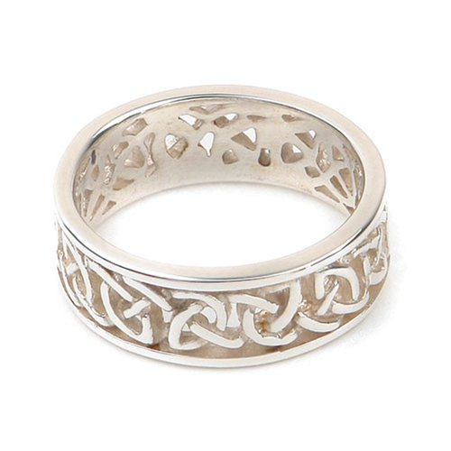 Ortak Jewellery Celtic Collection Sterling Silver R 183 Unisex Band Ring - Size L.5