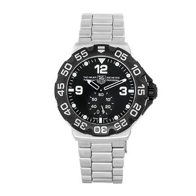 Men's WAH1010.BA0854 Formula 1 Grande Date Black Dial Watch from TAG Heuer