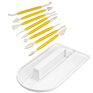 SAVFY® Sparset Einsteiger-Set Modellierwerkzeug + Glätter Teigmesser für Hobby Koch und Bäcker
