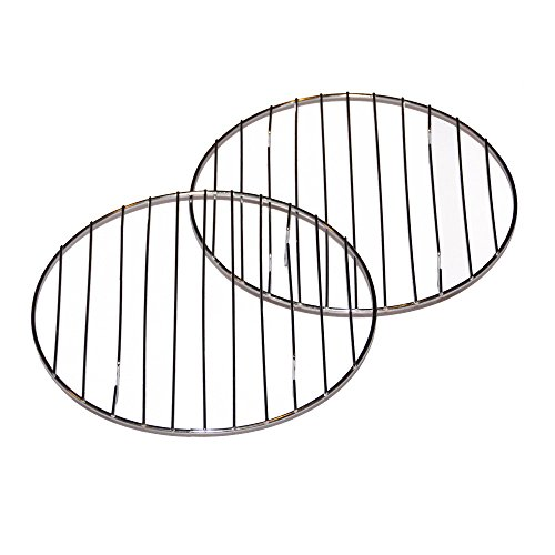 Cake Cooling Racks- Set of 2 Round 8 Inch Chrome Cooling Cake, Pastry or Cookie Racks (Small Round Oven Rack compare prices)