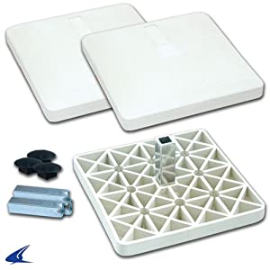 Buy Champro Pro Style Rubber Base Set (White) by Champro