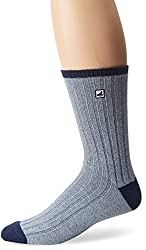 SPERRY Men's Marl Rib Crew Sock, Bering Sea, 10-13/Shoe Size 6-12