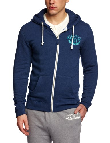 Rampant Zip-Thru Hoody Men's Sweatshirt Marine Large