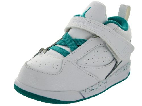 Nike Jordan Toddlers Jordan Flight 45 GT White/Turbo Green/Volt Ice Basketball Shoe 8 Infants US