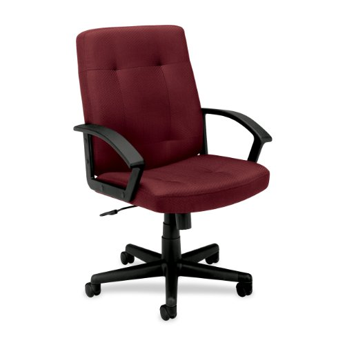 HON HVL602 Executive Mid-Back Chair for Office or Computer Desk, Burgundy