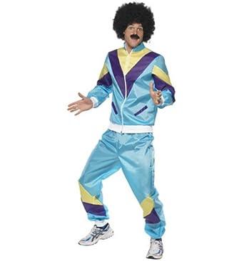 Mens 80S Shell Suit Fancy Dress Costume Multicoloured