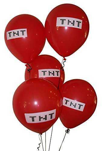 Pixelated-Red-TNT-Balloon-12-Inch-Latex-Party-Balloons-25-Count