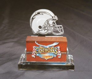NFL San Diego Chargers Business Card Holder in Gift Box by Caseworks