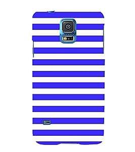 Blue Line Pattern 3D Hard Polycarbonate Designer Back Case Cover for Samsung Galaxy S5 Mini :: Samsung Galaxy S5 Mini G800F