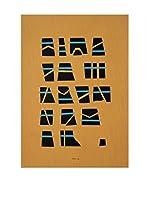 Danese Elemento Decorativo Bruno Munari 1984 Popolo Sconosciuto Ocre