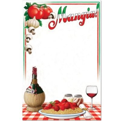 Italian Menu Board Party Accessory (1 count)