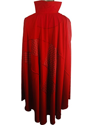 [XYZcos Men's Doctor Strange Red Cloak Cape Halloween Costume Size M] (Dr Strange Modern Costume)