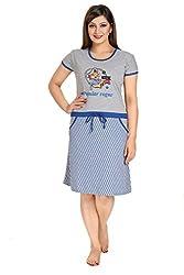 VimalFashnoi Womens Cotton NightDress & Nightshirt (Free Size) VF054