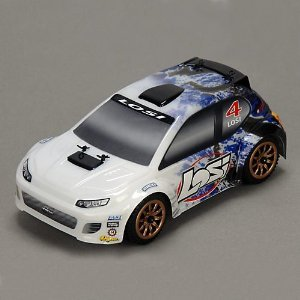 1/24 4WD Rally Car RTR: Blue Spatter