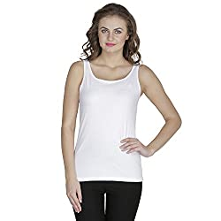 RAMPWALK Women's Sleevless Top (FYIAW15-TP03-01-99-06-03, White, Small)