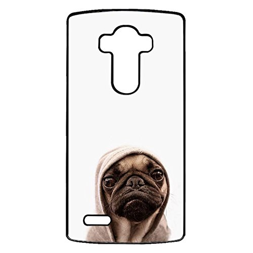 LG G4 Dog Pug Cover Shell,Funny Wretched Expression Pug Phone Case Cover for LG G4