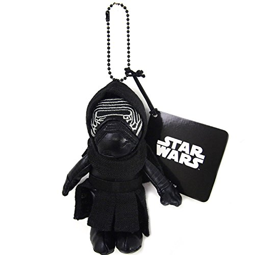 Japan Disney Official Star Wars the Force Awakens - Kyro Ren Head Mascot Soft Plush Stuffed Toys Cushion Doll Plushie Ball Key Chain Strap Charm String Phone Ring Holder Accessory Takara Tomy Arts