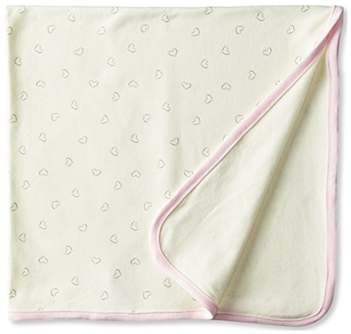 Sterling Baby by Vitamins Baby-Girls Newborn Heart Print Blanket with Ribbon, Assorted, One Size - 1
