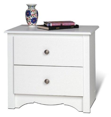 "Night Stand 2 Drawer - Monterey (White) (23 1/4""W x 21 3/4""H x 16""D)"