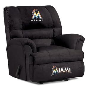 MLB Miami Marlins Big Daddy Microfiber Recliner by Imperial
