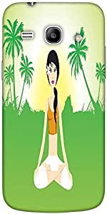 Snoogg Female Doing Yoga On Green Invirement Solid Snap On - Back Cover All A...